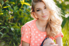 Summer portrait of a beautiful woman. Stock Images