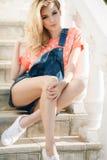 Summer portrait of a beautiful woman. Stock Photo