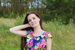 Summer portrait of a beautiful woman Royalty Free Stock Photography