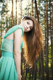 Summer portrait of a beautiful young woman Stock Images