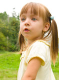 Summer portrait of a  little girl. Summer portrait of a cute little girl Royalty Free Stock Images