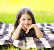 Summer portrait cute little girl. Outdoors Royalty Free Stock Images