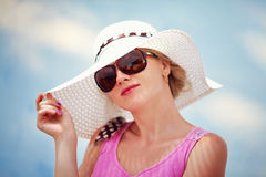 Summer portrait of elegant woman Stock Photography