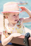 Summer portrait of a little girl Royalty Free Stock Photos