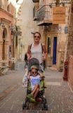 Cori and Edi - Walking on the street royalty free stock image