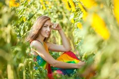 Summer portrait of a woman. Royalty Free Stock Photography