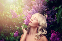 Summer Portrait of Young Beautiful Woman Royalty Free Stock Photo