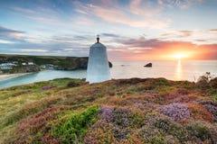 Summer at  Portreath in Cornwall Royalty Free Stock Photo