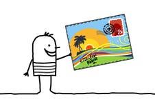 Summer postcard royalty free illustration