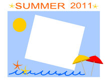 Summer postcard Stock Photography