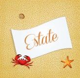 Summer postcard Royalty Free Stock Photo
