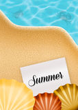 Summer postcard Royalty Free Stock Images