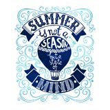 Summer Postcard Template Stock Image
