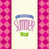 Summer postcard template design Stock Images