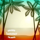 Summer poster background Royalty Free Stock Photos