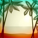 Summer poster background Stock Image