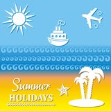 Summer poster Royalty Free Stock Images