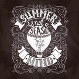 Summer Poster Black Royalty Free Stock Image