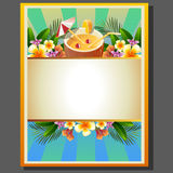 Summer Poster Coconut Royalty Free Stock Images