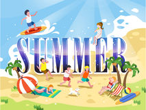 Summer poster design Royalty Free Stock Images