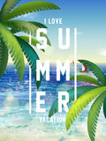 Summer poster design Royalty Free Stock Photography