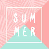 Summer Poster Design Stock Photography