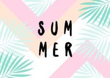 Summer Poster Design Royalty Free Stock Photos