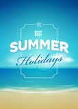 Summer poster design template Royalty Free Stock Image