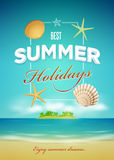 Summer poster design template Royalty Free Stock Photos