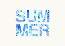 Summer Poster Design Stock Photos