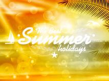 Summer Poster Design with Typography. Stock Photo
