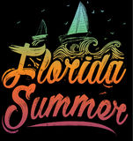 Summer poster Florida. Fashion style Stock Photography