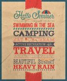 Summer poster. Hello Summer poster.Vector illustration Stock Image