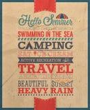 Summer poster. Hello Summer poster.Vector illustration royalty free illustration