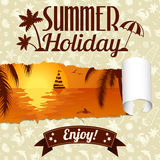 Summer Poster Royalty Free Stock Photography
