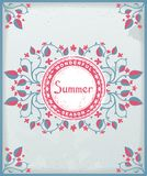 Summer poster in Provence style Stock Images