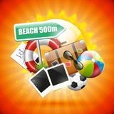 Summer poster Royalty Free Stock Photo