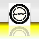 Summer poster. summer background. Effects poster, frame. Happy holidays card. Enjoy your summer Stock Images