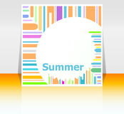 Summer poster. summer background. Effects poster, frame. Happy holidays card Royalty Free Stock Photography