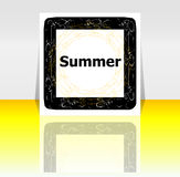 Summer poster. summer background. Effects poster, frame. Happy holidays card, Enjoy your summer Royalty Free Stock Image