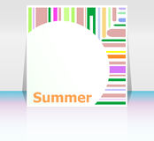 Summer poster. summer background. Effects poster, frame. Happy holidays card, your summer Royalty Free Stock Images