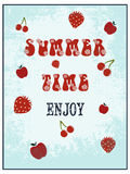 Summer poster Stock Images