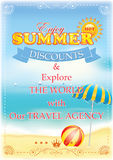 Summer poster for travel agencies. Stock Photo