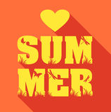 Summer poster of type composition. Royalty Free Stock Photo