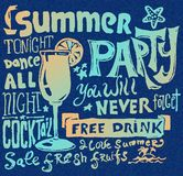 Summer poster. Typography  background Stock Photo