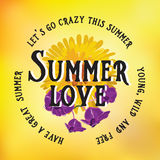 Summer poster.Typography vector. Stock Photo