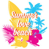 Summer poster.Typography vector. Stock Photos