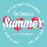 Summer poster.Typography vector. Stock Images