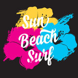Summer poster.Typography vector. Royalty Free Stock Photo