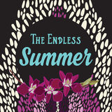 Summer poster.Typography vector. Royalty Free Stock Images